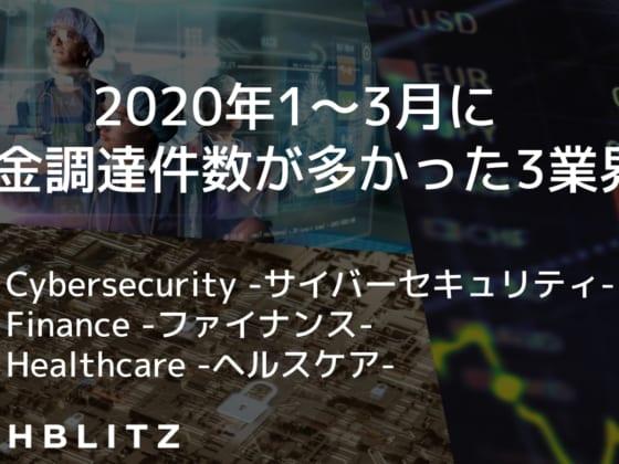 2020年1〜3月に資金調達したサイバーセキュリティ、ファイナンス、ヘルスケアスタートアップ53社【レポート】