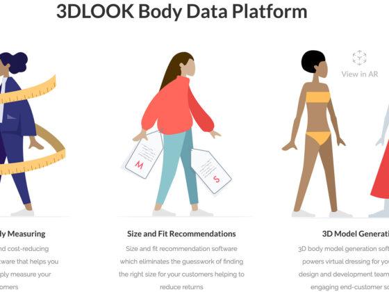 洋服購入のためのサイズ測定をスマホで簡単にできる3DLook