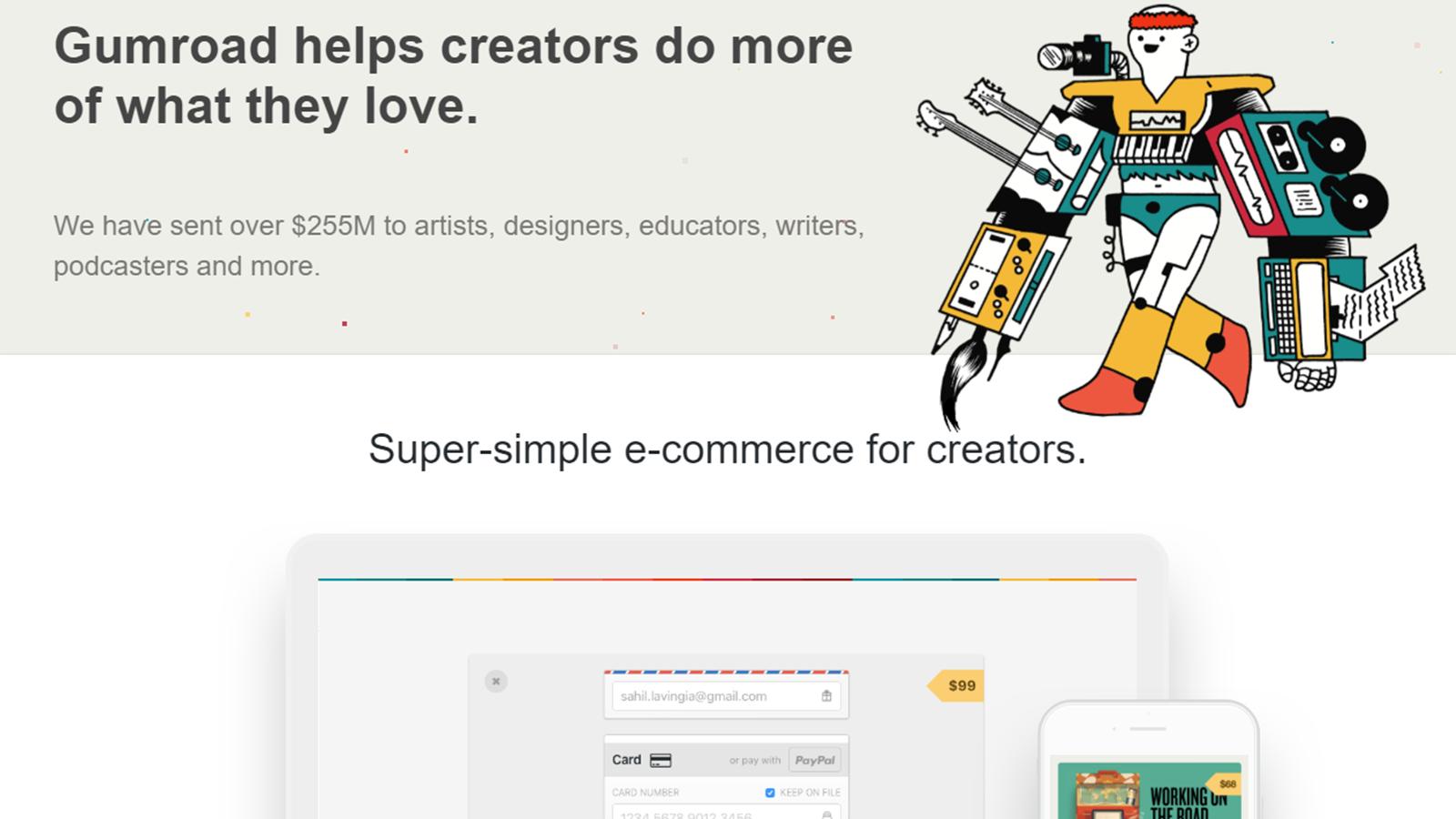 クリエイターの作品販売を簡単・シンプルに実現。デジタルコンテンツの販売プラットフォームGumroad