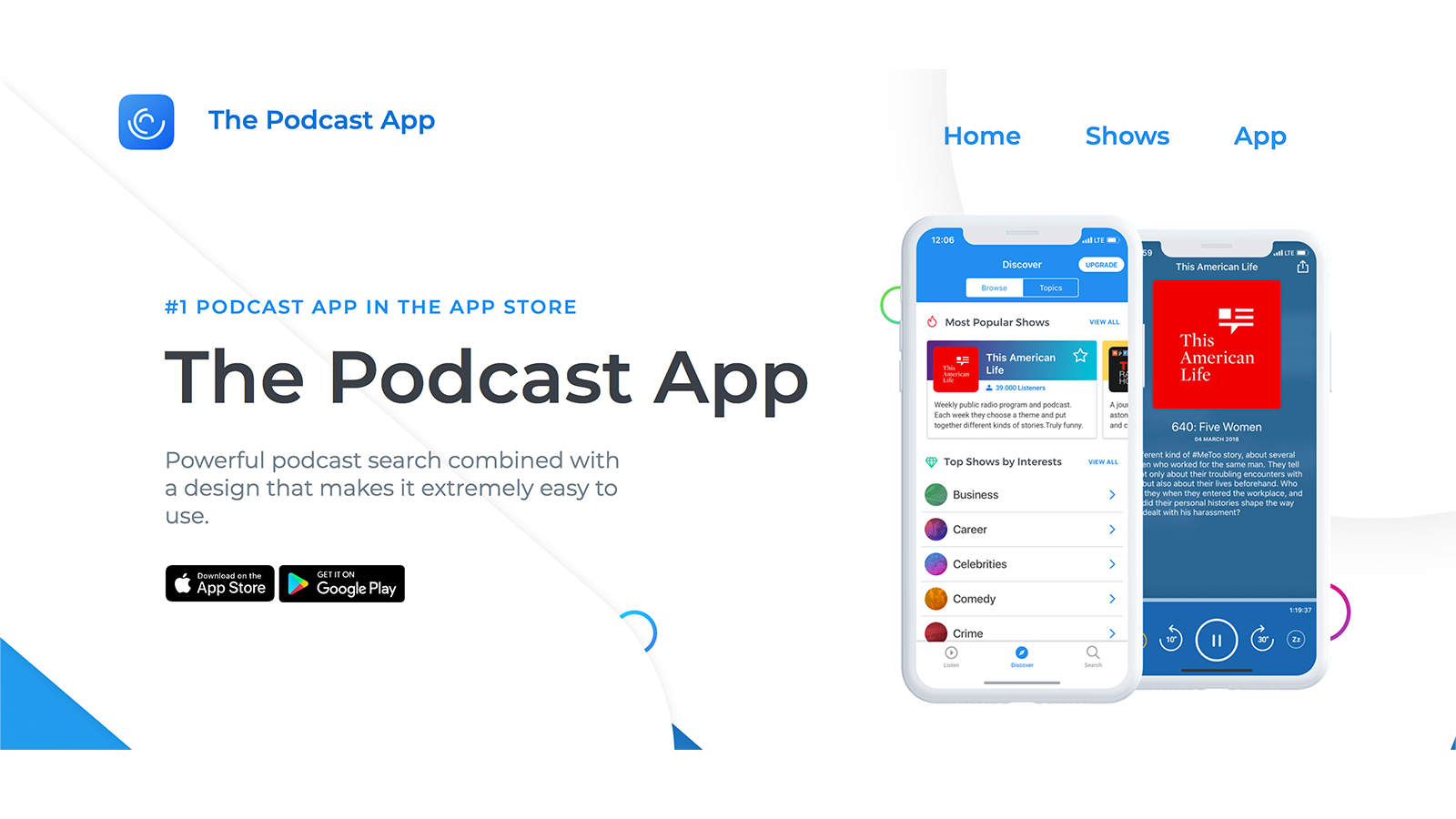 5000万エピソードを聴講できるThe Podcast App