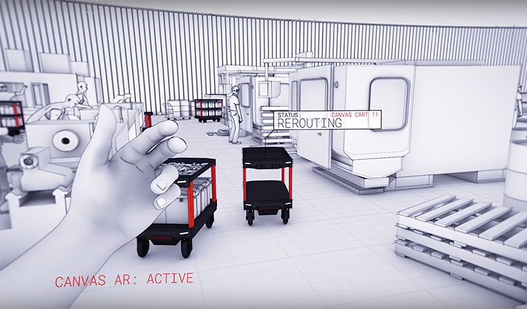 工場や港などで自動運転カートを走らせるCANVAS Technology