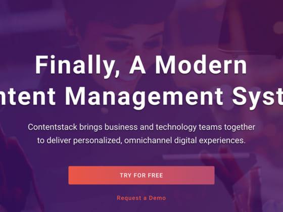 最新CMSで企業内のITとビジネスの統括をサポートするContentstack