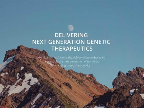 独自のデリバリー技術で遺伝子治療薬や細胞治療薬の実用化を後押しするGenEdit