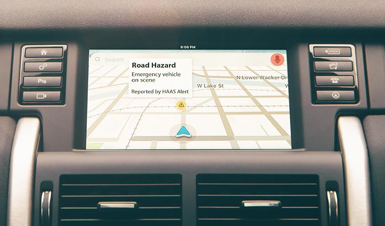 ドライバー向けの緊急車両接近通知システムで事故を防止するHAAS Alert
