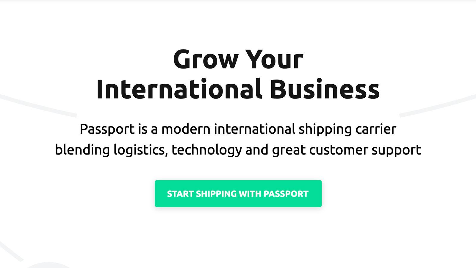 世界中への配送をスムーズにするPassport